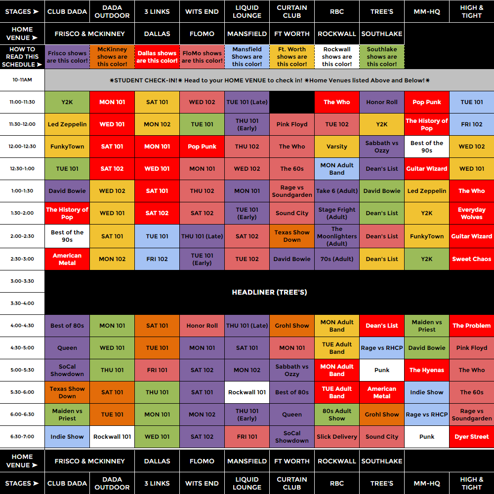Rockstrav VI Schedule