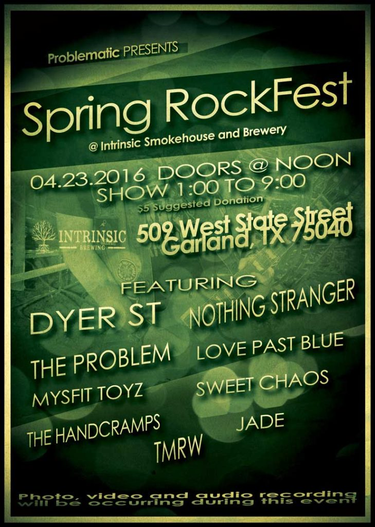 Spring rock fest at Intrinsic v3