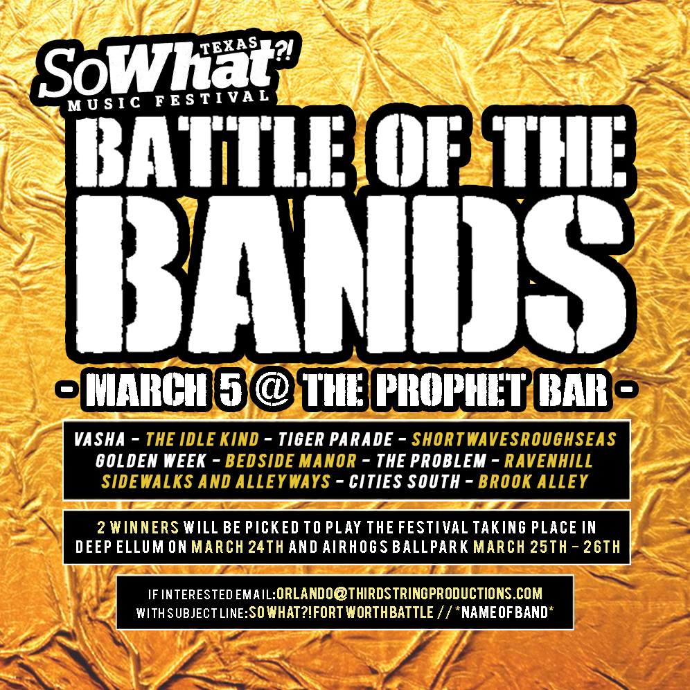 The Problem competing at So What?! music festival Battle of the Bands 2017